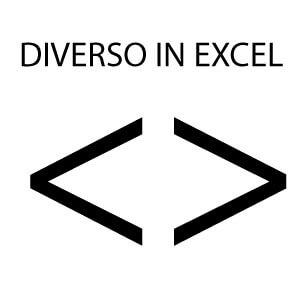 Diverso in Excel : ecco com'è il simbolo